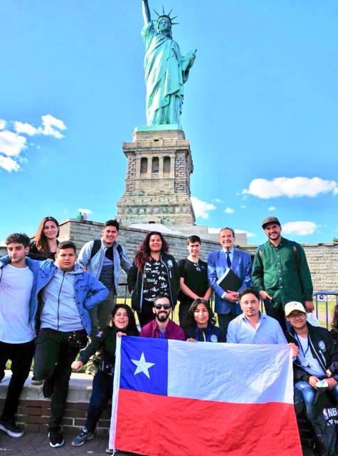 Viaje a EE.UU. de estudiantes de colegios municipales de La Florida