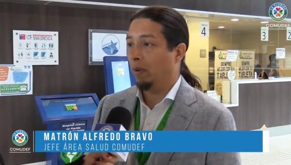 Alfredo Bravo, jefe del Área de Salud, Comudef