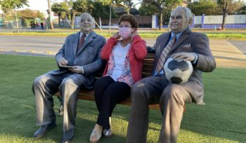 """Esculturas de La Florida en el """"Espacio Esperanza"""""""
